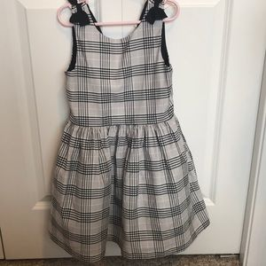 Carter's Black/gray plaid dress